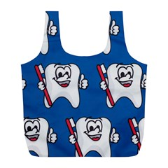 Tooth Full Print Recycle Bags (L)