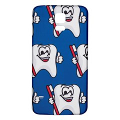 Tooth Samsung Galaxy S5 Back Case (White)