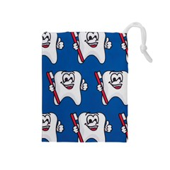 Tooth Drawstring Pouches (Medium)