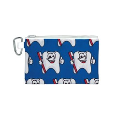 Tooth Canvas Cosmetic Bag (S)