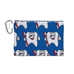 Tooth Canvas Cosmetic Bag (M)
