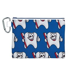 Tooth Canvas Cosmetic Bag (L)