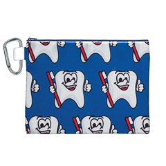 Tooth Canvas Cosmetic Bag (XL)