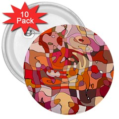 Abstract Abstraction Pattern Modern 3  Buttons (10 pack)