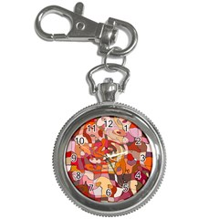 Abstract Abstraction Pattern Modern Key Chain Watches