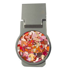 Abstract Abstraction Pattern Modern Money Clips (Round)