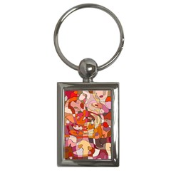 Abstract Abstraction Pattern Modern Key Chains (Rectangle)