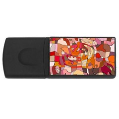 Abstract Abstraction Pattern Modern USB Flash Drive Rectangular (2 GB)