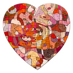 Abstract Abstraction Pattern Modern Jigsaw Puzzle (Heart)