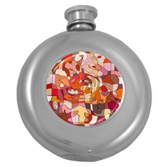 Abstract Abstraction Pattern Modern Round Hip Flask (5 oz)