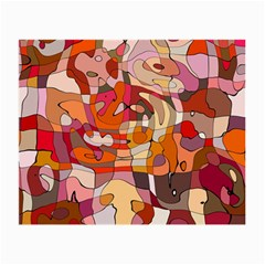 Abstract Abstraction Pattern Modern Small Glasses Cloth (2-Side)
