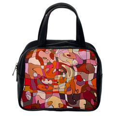 Abstract Abstraction Pattern Modern Classic Handbags (One Side)