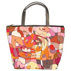 Abstract Abstraction Pattern Modern Bucket Bags