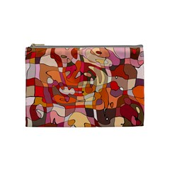Abstract Abstraction Pattern Modern Cosmetic Bag (Medium)