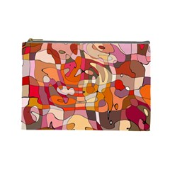 Abstract Abstraction Pattern Modern Cosmetic Bag (Large)