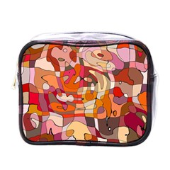 Abstract Abstraction Pattern Modern Mini Toiletries Bags