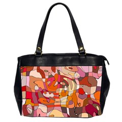 Abstract Abstraction Pattern Modern Office Handbags (2 Sides)