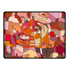 Abstract Abstraction Pattern Modern Fleece Blanket (Small)