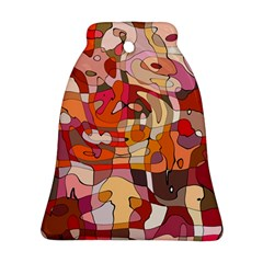 Abstract Abstraction Pattern Modern Bell Ornament (2 Sides)