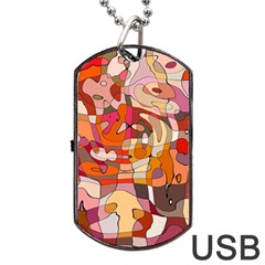 Abstract Abstraction Pattern Modern Dog Tag USB Flash (Two Sides)