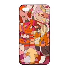 Abstract Abstraction Pattern Modern Apple iPhone 4/4s Seamless Case (Black)