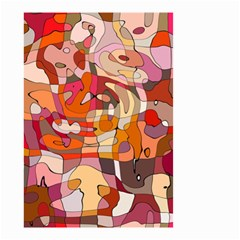 Abstract Abstraction Pattern Modern Small Garden Flag (Two Sides)