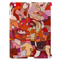 Abstract Abstraction Pattern Modern Apple iPad 3/4 Hardshell Case (Compatible with Smart Cover)