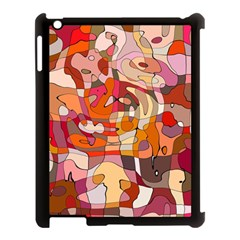 Abstract Abstraction Pattern Modern Apple iPad 3/4 Case (Black)