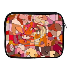 Abstract Abstraction Pattern Modern Apple iPad 2/3/4 Zipper Cases