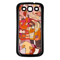 Abstract Abstraction Pattern Modern Samsung Galaxy S3 Back Case (Black)