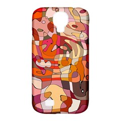 Abstract Abstraction Pattern Modern Samsung Galaxy S4 Classic Hardshell Case (PC+Silicone)