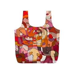 Abstract Abstraction Pattern Modern Full Print Recycle Bags (S)