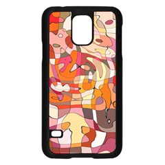 Abstract Abstraction Pattern Modern Samsung Galaxy S5 Case (Black)