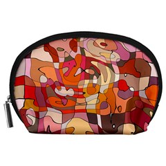Abstract Abstraction Pattern Modern Accessory Pouches (Large)