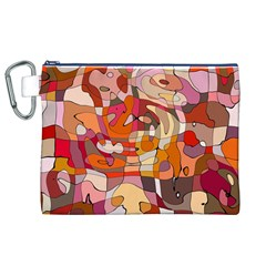 Abstract Abstraction Pattern Modern Canvas Cosmetic Bag (XL)