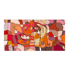 Abstract Abstraction Pattern Modern Satin Wrap
