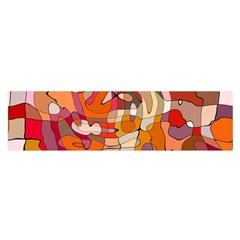 Abstract Abstraction Pattern Modern Satin Scarf (Oblong)