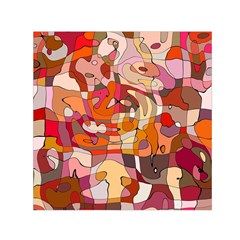 Abstract Abstraction Pattern Modern Small Satin Scarf (Square)