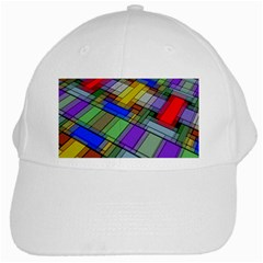 Abstract Background Pattern White Cap