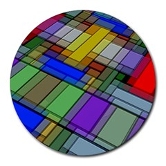 Abstract Background Pattern Round Mousepads