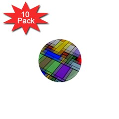 Abstract Background Pattern 1  Mini Magnet (10 pack)