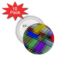 Abstract Background Pattern 1.75  Buttons (10 pack)