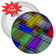 Abstract Background Pattern 3  Buttons (10 pack)