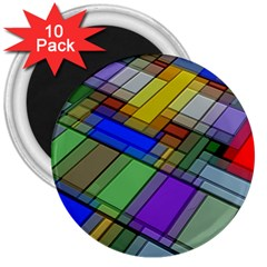 Abstract Background Pattern 3  Magnets (10 pack)