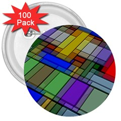 Abstract Background Pattern 3  Buttons (100 pack)