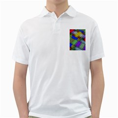 Abstract Background Pattern Golf Shirts