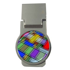 Abstract Background Pattern Money Clips (Round)