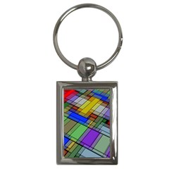 Abstract Background Pattern Key Chains (Rectangle)