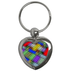 Abstract Background Pattern Key Chains (Heart)