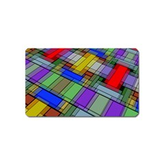 Abstract Background Pattern Magnet (Name Card)